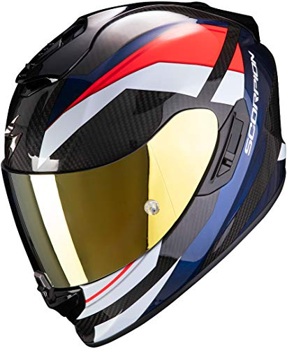 Scorpion - Casco Scorpion Exo-1400 Carbon Air Egione L Large Red-Blue