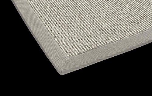 DEKOWE Sisal Küchen Teppich Mara auch fürs Esszimmer oder Flur geeignet (240 x 340 cm, 007 Kiesel grau)