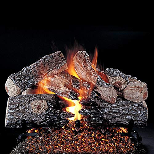 Buy Rasmussen 30-Inch Evening Prestige Gas Log Set with Vented Valve Vanisher Natural Gas Flaming Em...
