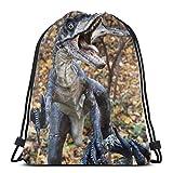 Velociraptors - Mochila deportiva con cordón, diseño de dinosaurio, bolsa de viaje para niños, hombres y mujeres