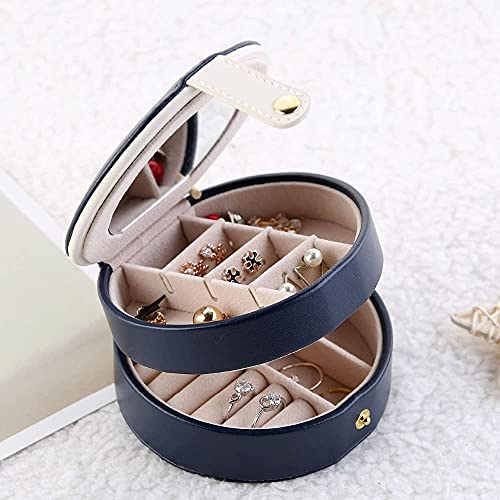 Especial / simple PU cuero joyerly caja moda joyería organizador portátil caja de almacenamiento bandeja para joya anillo cosmético collar organizador regalo de viaje para mujeres Pascua recuerdo caja