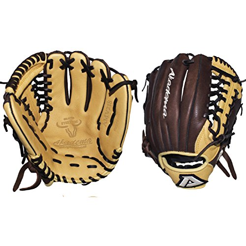 Akadema Pattern Modified-Trap Web Gloves with Open Back and Medium-Deep Pocket, 11.5', Worn on Left Hand