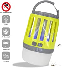 1LEDキャンプランタン昆虫ザッパーテントライトに付き2、ポータブルIPX4防水蚊キラー、USB充電式、フック付き、キャンプ用品