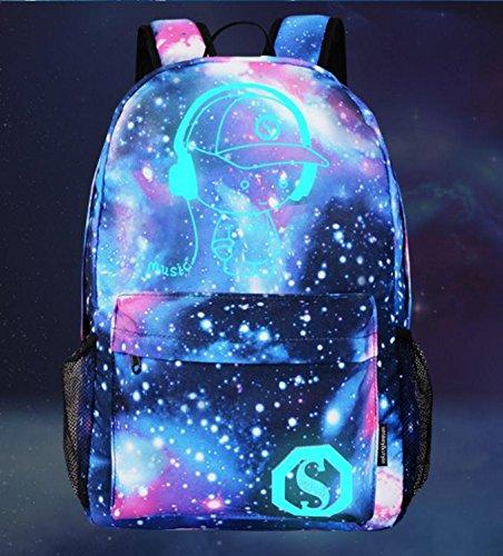 Gypo scuola canvas zaino Galaxy anime luminoso zaino Zaino tracolla portatile