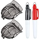 2 Pack Golf Ball Line Liner Drawing Marking Alignment Putting Tool and 2 Pieces Golf Ball Marker Pen (Set 3, 4 Pieces Totally)