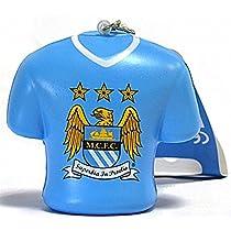Manchester City FC    マンチェスター·シティーFCクレストストレスリリーフPVCキーリング (bb)