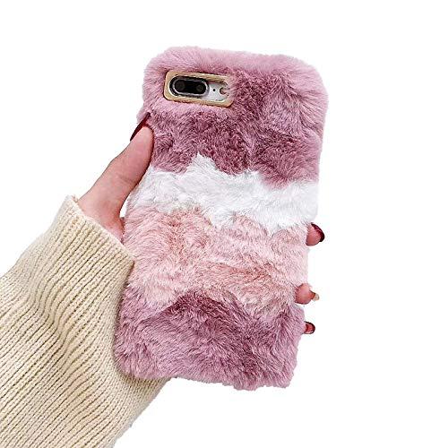 RosyClouds Funda para iPhone 11 Pro XR XS Max X 7 8 Plus 12 Mini suave TPU Funda de piel de color rosa para 12 (6.1)