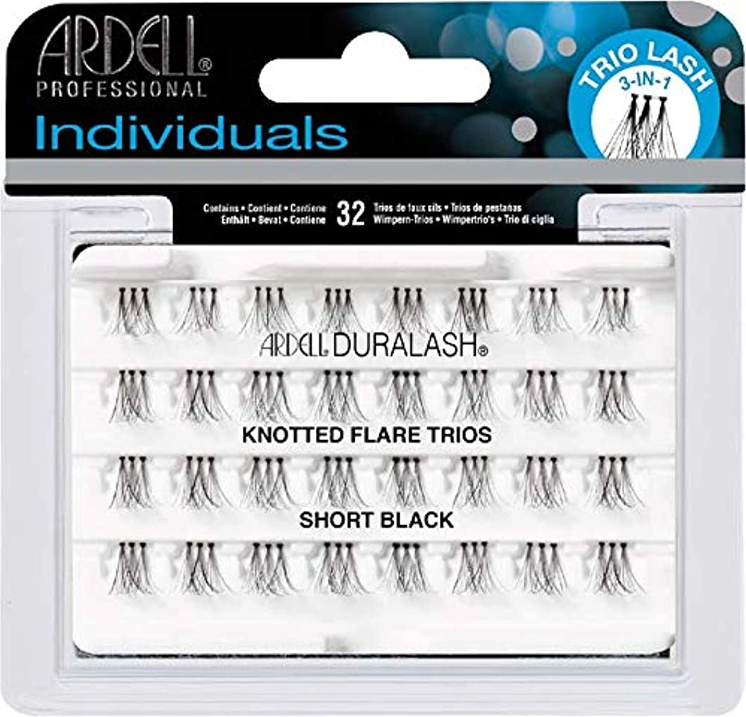 Ardell Trio Individual Lashes Knotted Flares - Trios Short Black