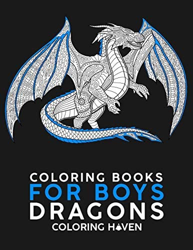 Coloring Books For Boys Dragons Dragon Coloring Book For Adults Boys Teens For Relaxation product image