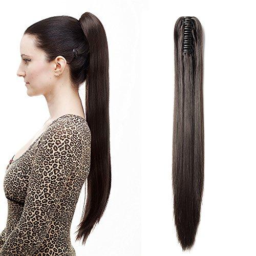 Extensions de cheveux synthétiques à clipser de 45,7 à 66 cm de long