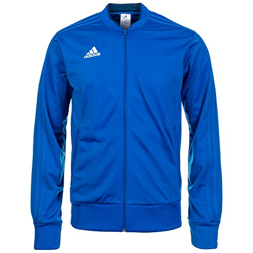 adidas CON18 PES JKT Jacket, Hombre, Blanco Claro/Azul, M