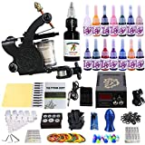 ANDNICE Tattoo Complete Starter Tattoo Kit 1 Pro Machine Guns 14 Inks Power Supply Foot Pedal Needles Grips Tips