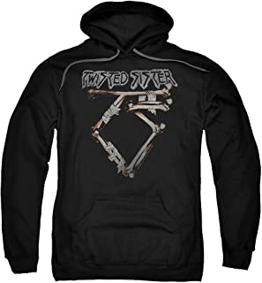 Trevco Twisted Sister Bone Logo Unisex Adult Pull-Over Hoodie for Men and Women