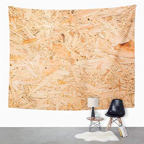Y·JIANG Tapiz de superficie de madera, tableros OSB de madera marrón lijada para el hogar, dormitorio grande, manta para colgar en la pared para sala de estar, dormitorio, 203 x 152 cm