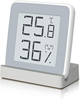 Homidy Digital Hygrometer Indoor Thermometer, Rare 360° HD E-Ink Screen Room Temperature Humidity Meter Swiss SENSIRION Hi...