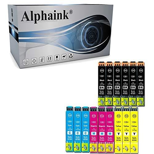 Alphaink 15 Cartucce compatibili con Epson T1281 T1282 T1283 T1284 Multipack per Epson Stylus SX125 SX130 SX230 SX235W SX420W SX425W SX430W BX305FW