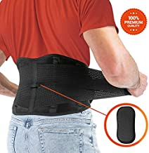 FITGAME Back Brace - Lower Back Support Belt for Pain Relief | Sciatica, Herniated Disc and Scoliosis for Men and Women - Adjustable Straps and Removable Lumbar Pad (Large)