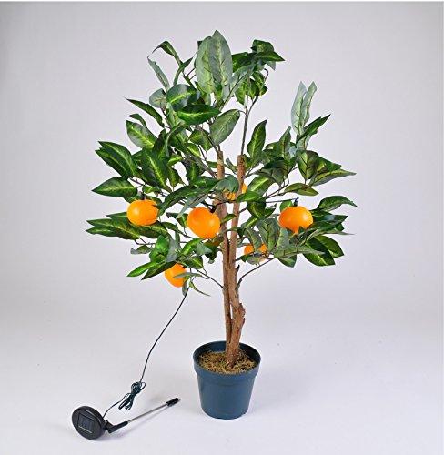 keine Angabe LED Solar Mandarinen-Baum 90cm Orangen Bäumchen Obstbaum Kunstpflanze Gartendeko