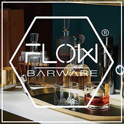 Flow Barware Deluxe Whiskygläser und Whiskysteine, in Geschenkbox aus Holz, italienisches Vintage-Kristallglas für Scotch, Bourbon, Gin & Tonic sowie Cocktails - 3