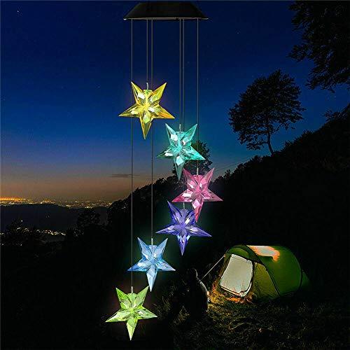 GBYN Solar LED Windspiel Lampe Farbwechsel Lampe Solar Mobile Star LED Gartenleuchte