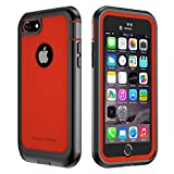 iPhone 7/8 Case, ImpactStrong Ultra Protective Case with Built-in Clear Screen Protector Full Body Cover for iPhone 7 2016 /iPhone 8 2017 (Red)