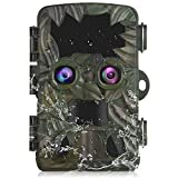 Vmotal Trail Camera Wildlife Game Camera Dual Lens 4K/20MP Starlight Night Vision Motion Activated Game Hunting Camera H8201 for Wildlife Monitoring 2.4''LCD Trigger Speed 0.2s Waterproof IP66