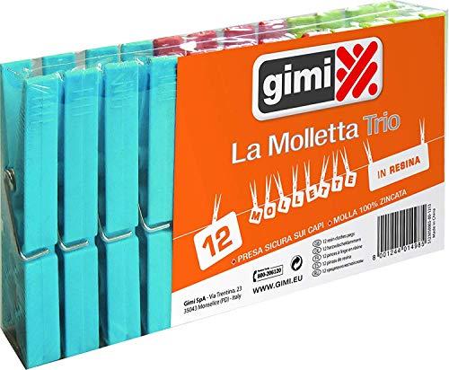 Gimi Pinzas Trio, Azul, 2X1.5X9 Cm, 12