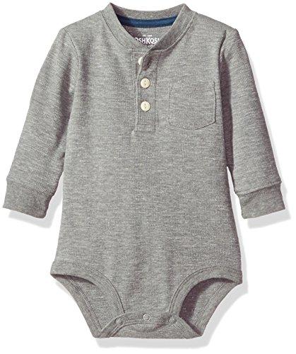 OshKosh B'Gosh Body pour bébé garçon avec poche Henley - gris - 18-24 mois