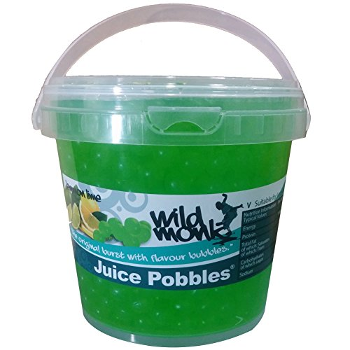 Price comparison product image Wild Monk Lemon and Lime Juice Pobbles Tub 1.2 kg. Wild Monk Juice Pobbles 1.2kg. Great for Bubble Tea,  Dessert Toppings,  Prosecco and Cocktails. Made from Agar and 100% Vegan.