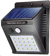 WOQZILINE 20 LED Motion Activated Sensor Solar Power Light for Outdoor Home Garden, Balcony, Main Door (Standard Size, Black)