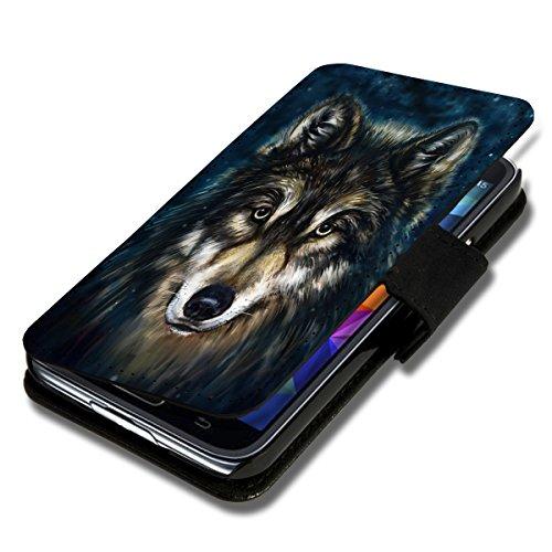 Book Style Flip Handy Tasche Case Schutz Hülle Foto Schale Motiv Etui für Microsoft Lumia 535 - A38 Design12