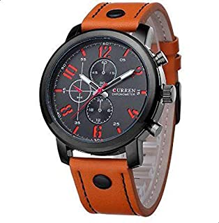 Curren Sport Watch For Men Analog Leather - 8192