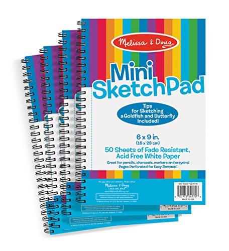 Melissa & Doug Mini-Sketch Pad Bundle (4 Pack)