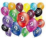 FABSUD 20Unidades Globos Cumpleaños 9años