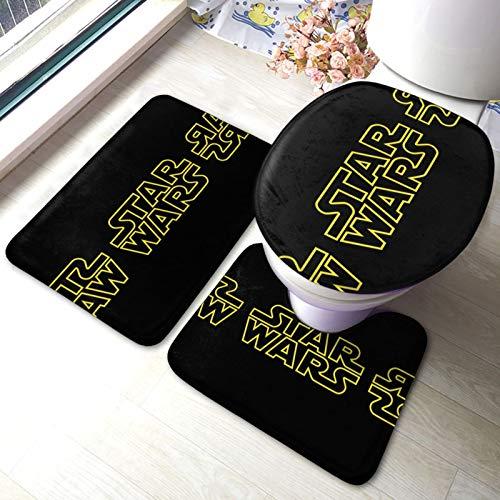 S-Tar Wa-Rs Reb-El Alli-Ance - Juego de alfombrillas de baño antideslizantes para pedestal y baño