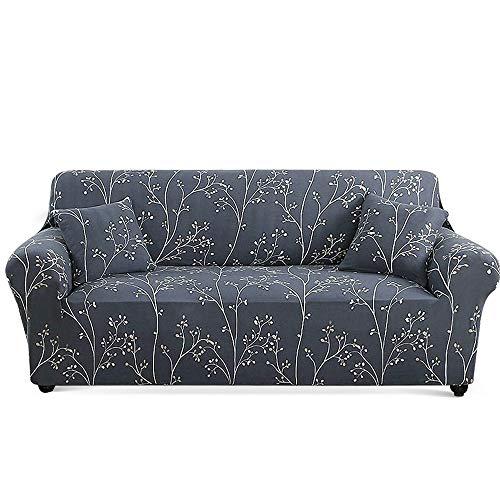 Carvapet Elastischer Sofabezug Sofaüberwurf Antirutsch Couch überwurf Stretch Elastische Stoff Gedrucktes Muster Sofahusse Sofa Abdeckung Hussen überwurf für Sofa (AST, 3 Sitzer)