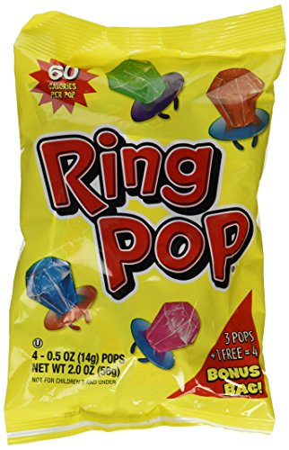 Ring Pop Candy 4ct 2oz Bag (Set of 2)