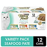 Purina Fancy Feast Grain Free Pate Wet Cat Food Variety Pack, Seafood Classic Pate Collection - (2...