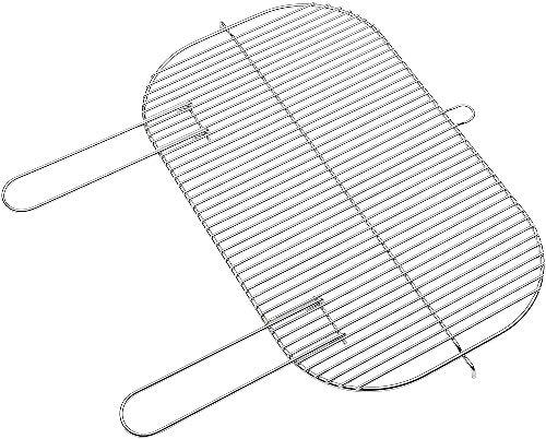 Barbecook Grille de cuisson acier chromé pour Arena/Loewy 55, 59,5 x 36,5 x 2 cm
