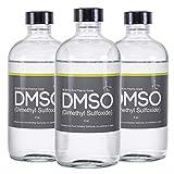 Low Odor DMSO 3 Glass 8 oz Bottle Special 99.995% Pharma Grade Dimethyl Sulfoxide