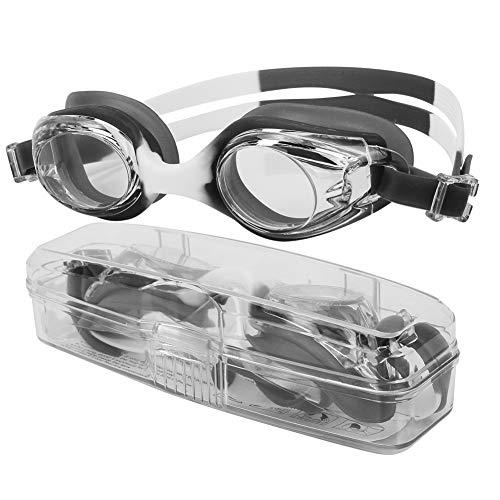 SolUptanisu zwembril voor kinderen, HD anti-condens, UV-bescherming, veiligheidsbril, verstelbare waterdichte duikbril, zwemuitrusting met verstelbare hoofdband, voor kinderen, junior, 4 kleuren