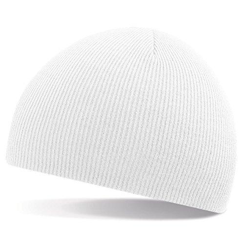 T-shirt en style Bonnet en tricot de laine, Fashion-a, Bonnet d'hiver - Blanc, Taille unique