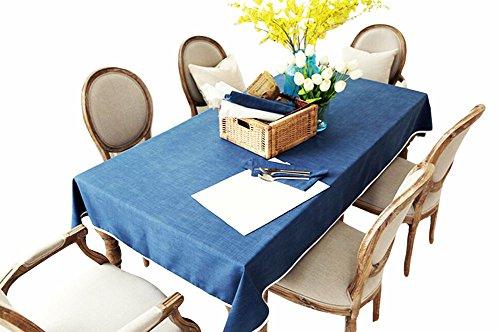 Table Linge de maison haut de gamme Couleurs unies Nappe (130x180 CM)-Bleu marin