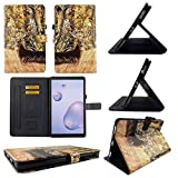 TPU Shell Case for Samsung Tab A 8.4 2020 SM-T307 Camo Deer Slim PU Leather Folding Stand Cover with Auto Wake/Sleep for 8.4 Inch