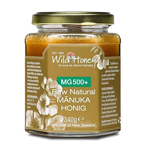 WILD HONEY - Raw Natural Manuka Honig MGO 500+ 340g im Glas I das Original I bekannt durch TV Sternekoch I Laborberichte und Zertifikate online
