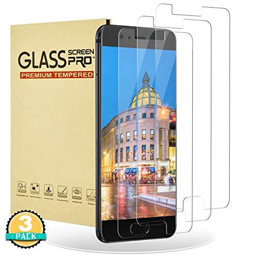 RIIMUHIR Protector de Pantalla para Huawei P10,[3 Unidades] Vidrio Templado para Huawei P10,9H Dureza,Cristal Templado,Alta Definición,Compatible con 3D Touch Película