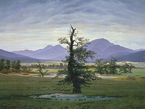 Artland Alte Meister selbstklebendes Wandbild Caspar David Friedrich Der einsame Baum Wandtattoo Art 90 x 120 cm Kunstdruck Gemälde Romantik R0NV