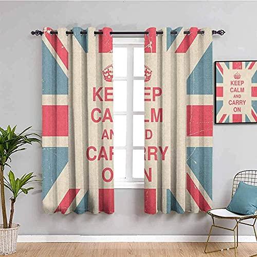 LHAOSIX cortinas opacas cortas dormitorio Bandera simple corona ingles 280x245cm 3D Impresión Digital 2 Paneles Poliéster con Ojetes reducción de Ruido Suaves Salon Dormitorio Decoración Para Hogar