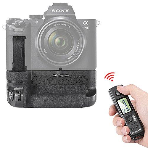 Neewer vertikaler Batteriegriff für Sony A7II A7RII A7SII Kameras Ersatz für Sony VG C2EM funktioniert nur mit NP-FW50 Batterie, 2,4 G LCD Funkfernbedienung im Lieferumfang enthalten