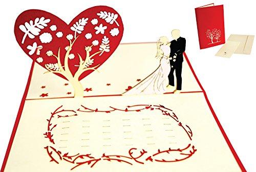 LIN 17536, pop-up kaart bruiloft, 3D kaart bruiloft, pop-up trouwkaart, pop-up kaart liefde, huwelijkscadeau, wenskaart huwelijk, vouwen kaart wenskaart bruiloft kaart N312